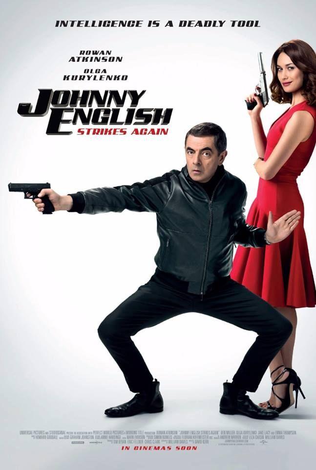 Nonton Johnny English Reborn : nonton, johnny, english, reborn, Johnny, English, Strikes, Again, Official, Poster, Rowan, Atkinson, Kurylenko, English,, Movies,