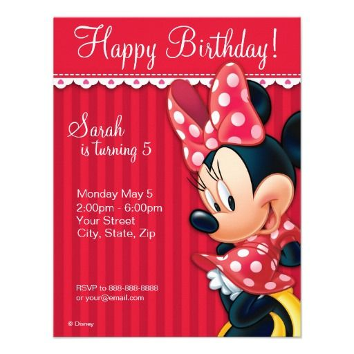 Invitación roja y blanca de Minnie del cumpleaños: Red And White, Kids Birthday, Birthday Parties, Birthday Invitations, White Birthday, Girls Birthday, Parties Invitations, Disney Birthday, Minnie Red