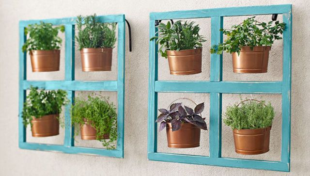 Add a Hanging Bucket Herb Planter  - CountryLiving.com