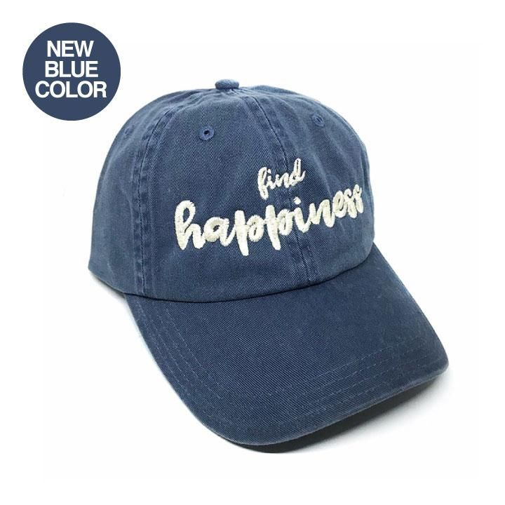FIND HAPPINESS VINTAGE BLUE CHINO TWILL DAD CAP