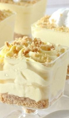 No-Bake Lemon Cheesecake Mousse Cups - Overtime Cook