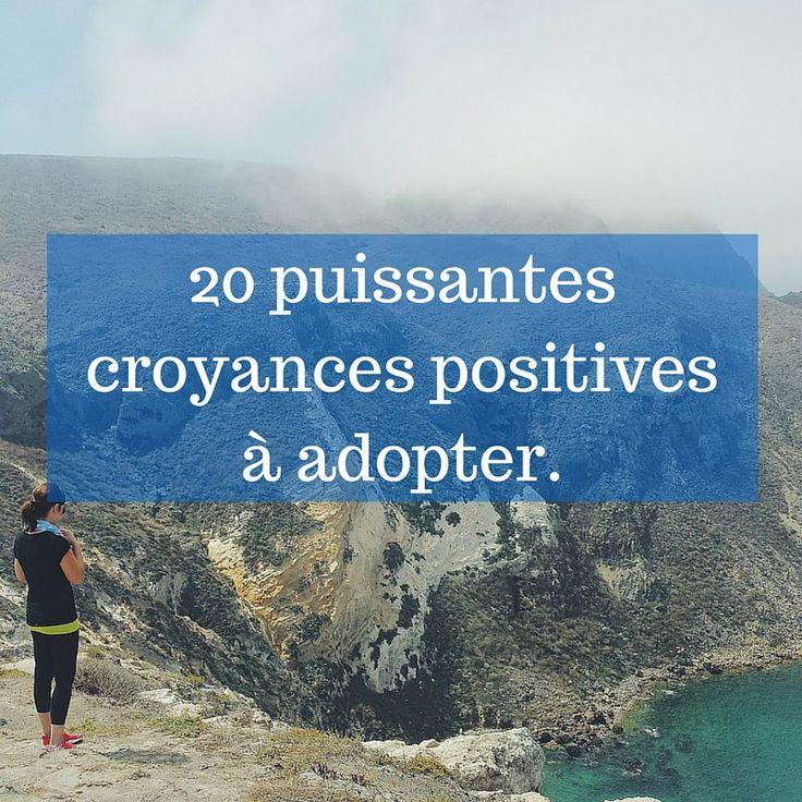 Prêt à repousser les croyances limitantes ? Voici plus de 20 puissantes croyances positivesqui m'ont aidé et m'aident encore aujourd'hui à être plus heureux chaque jour.Je vous les offre.      Tout est expérience.  Les échecs et les réussites