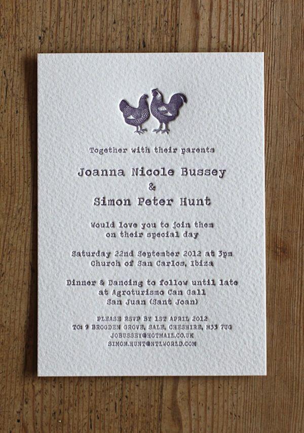 Definitely cute farm wedding inspired invitations