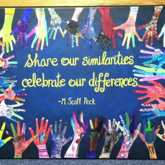 Diversity in Action project at our school!  Turned out so beautiful!  I love all of the great ideas on Pinterest.