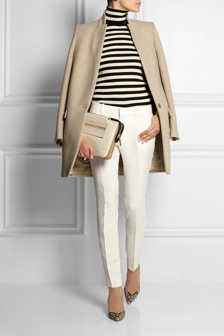 Gucci|Silk-cady skinny pants- white pants for winter