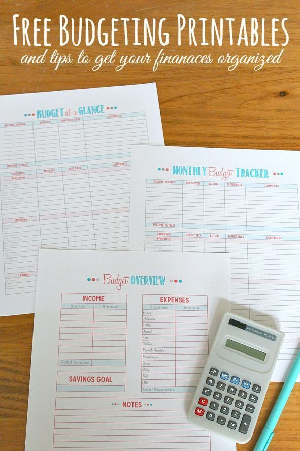 Free printables and tips to help you create and track your budget. Perfect to add to your family binder! // cleanandscentsible.com