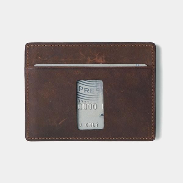 Slim Card Holder Minimalist Wallet - Haru Wallet (Crazy Horse) - Kisetsu.Co - slim rfid shielding minimalist wallet - 2