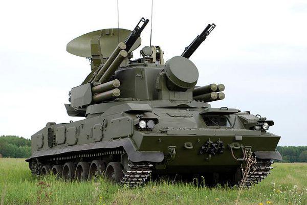 2K22 Tunguska self-propelled a...