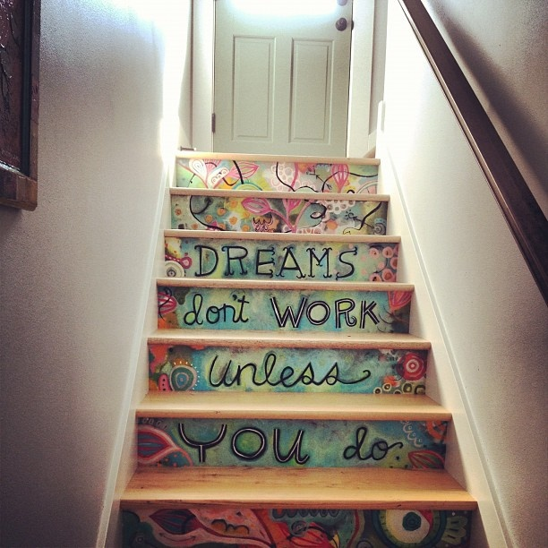 Lovely visit with @close2myart who has the coolest stairs ever! by kelly rae roberts, via Flickr