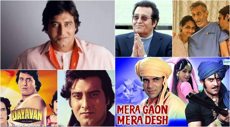 Top 10 Movies of Vinod Khanna such as Aan Milo Sajana, Mera Gaon Mera Desh, Chandni, Amar Akbar Anthoni, Muqaddar Ka Sikandar, Qurbaani, Achanak & Imtihan