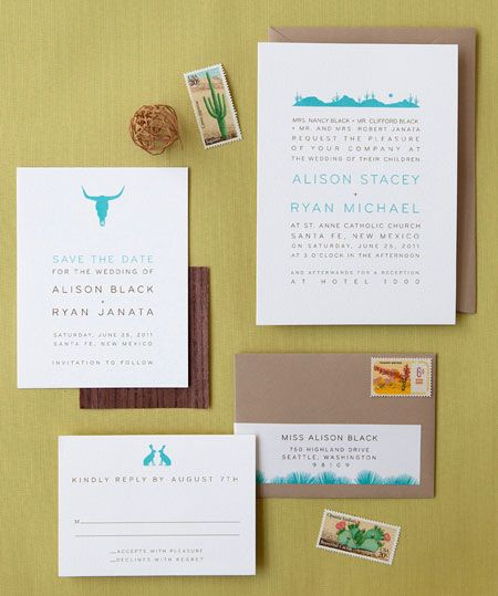 Desert Skyline Wedding Invitation