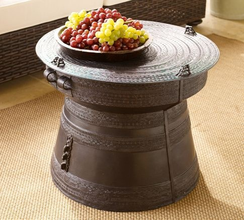 Frog Rain Drum Accent Table | Pottery Barn