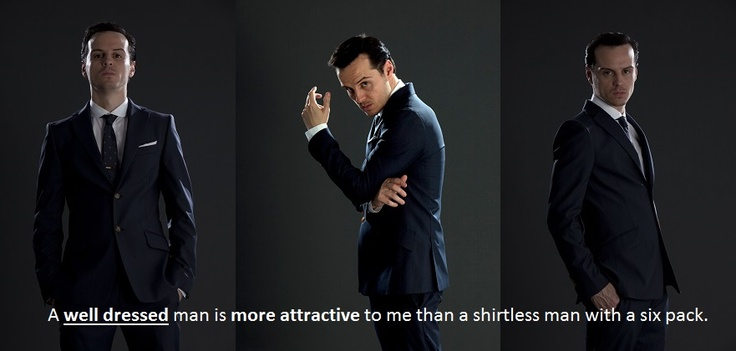 """TRUTH."" More people need to understand. Nothing is sexier than a man in a suit. NOTHING"