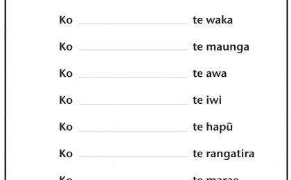 Mihimihi maori