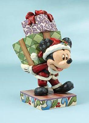 """Figurine Disney Mickey """"Voici le vieux St Mick"""" - Décoration de Noël"""