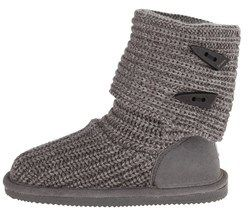 BearPaw Womens Knit Tall Closed Toe Ankle Cold Weather Boots.