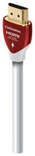 AudioQuest - Cinnamon 32.8' In-Wall HDMI Cable - White, HDMICIN10