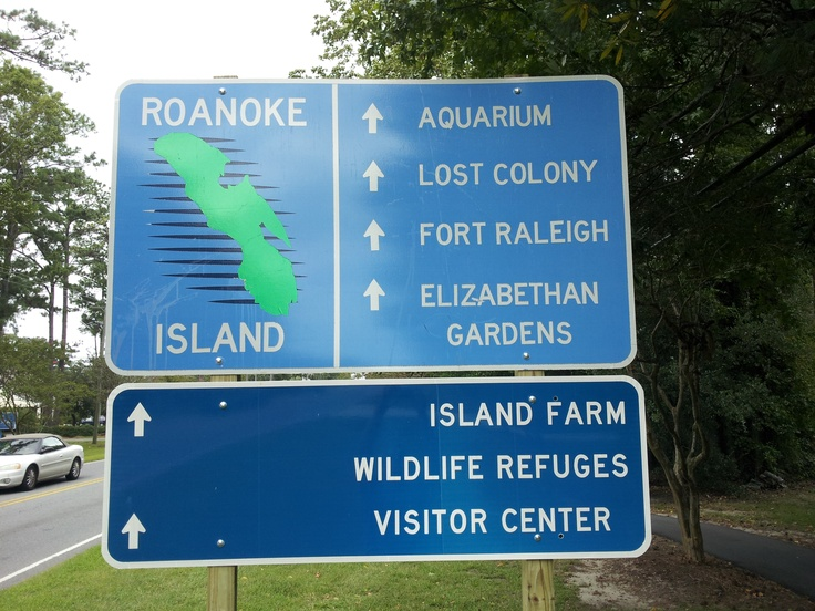 Roanoke Island Attractions on the north end of the island.