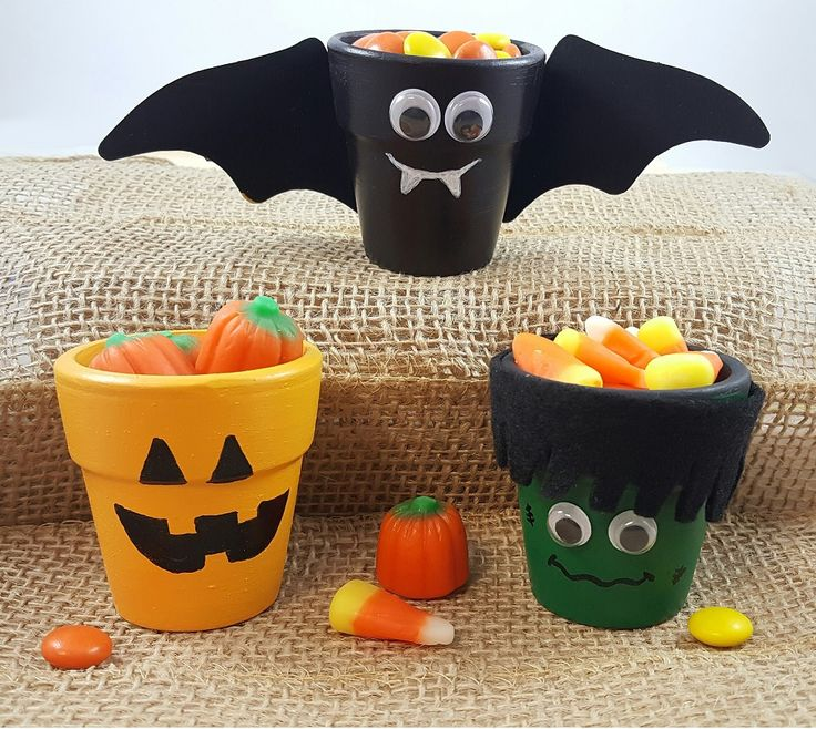265 best halloween pot crafts images on pinterest for Art and craft pot decoration