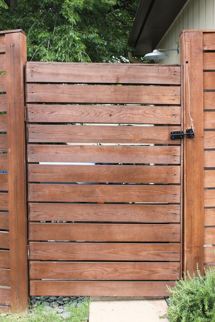 horizontal cedar gate