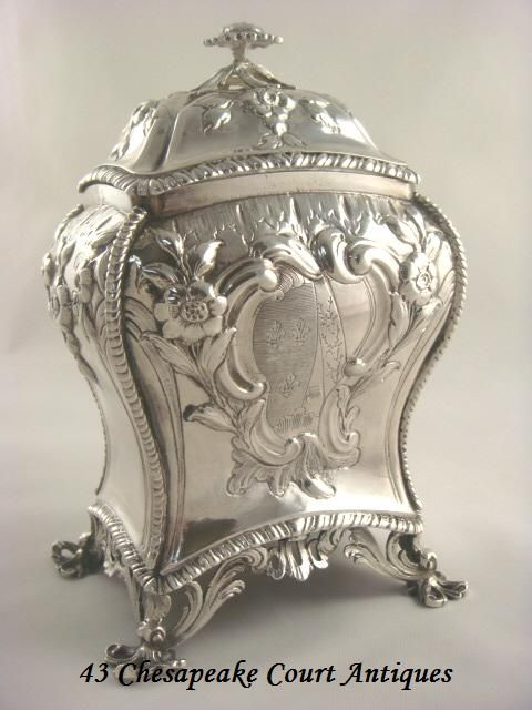 Antique Sterling  Silver tea caddy -George lll ,1765