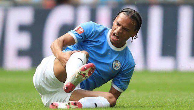 ساني يخرج مبكرا من مباراة مانشستر سيتي وليفربول بسبب الإصابة With Images Leroy Sane Knee Injury Manchester City