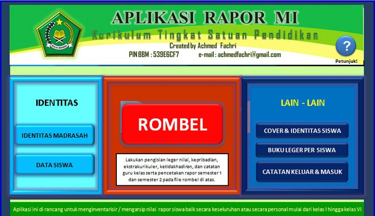 [.xls otomatis] Software Raport KTSP MI Aplikasi Excel Free Download