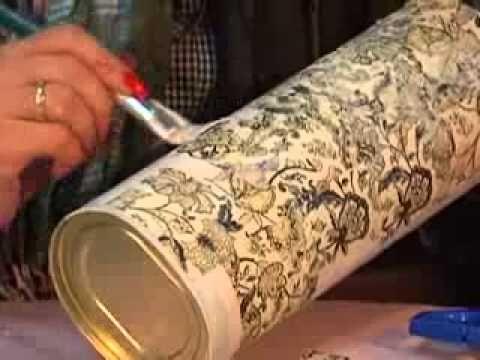 Boş Kutulardan Dekupaj Vazo Nasıl Yapılır
