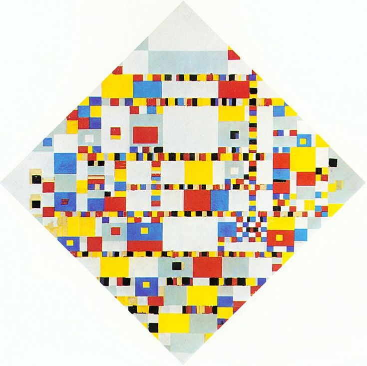 Unfinished painting of Mondrian just before his death: http://endpiece.tumblr.com/