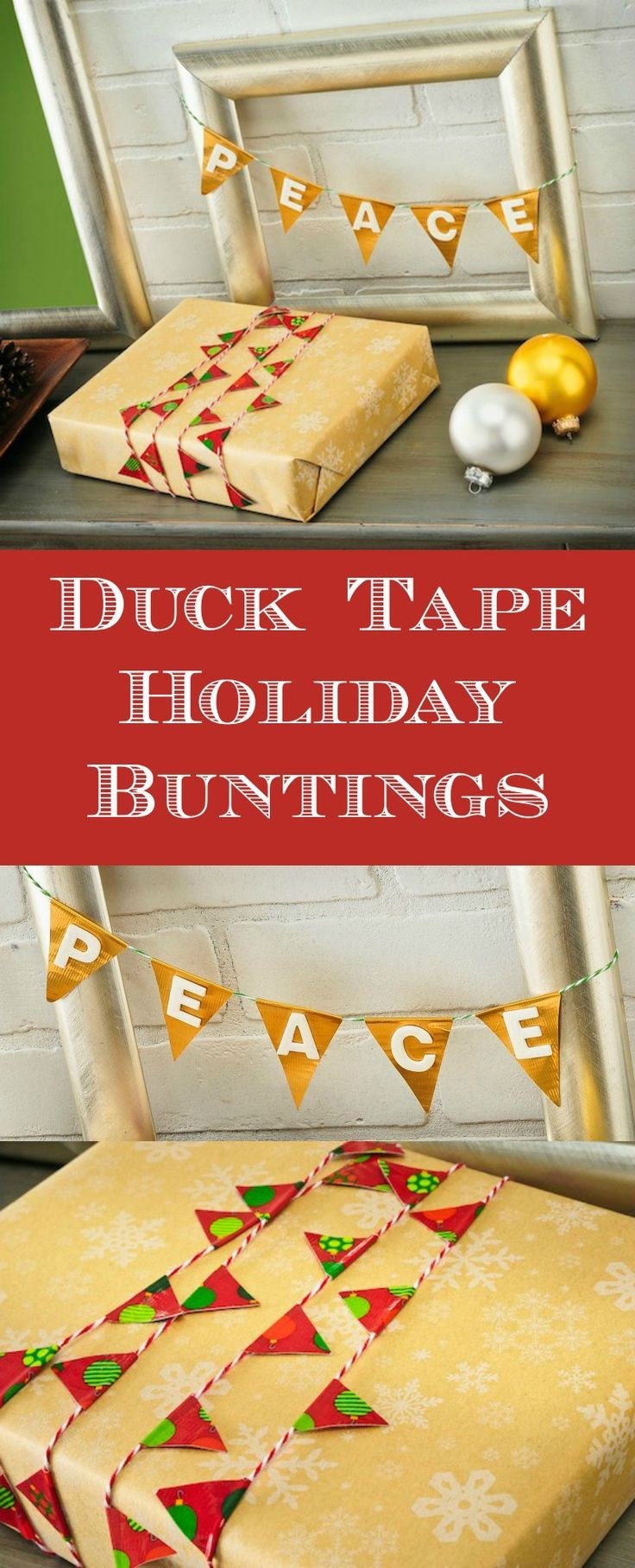Are you as big of a fan of duck tape crafts as I am? Make a Christmas bunting and gift wrap using very simple materials - these projects are so easy!