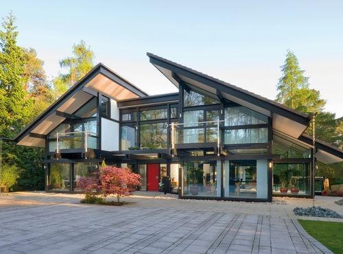 271 best images about moderne woning hellend dak on - German prefab homes grand designs ...