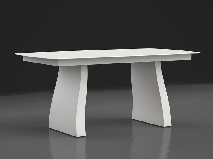mesa blanco formas modernas 160x100x75
