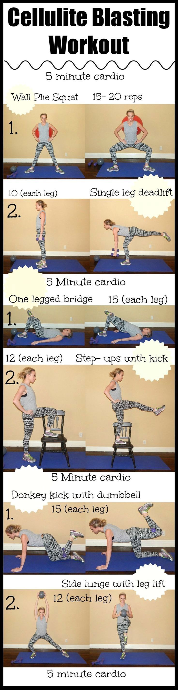 Cellulite Blasting Workout. The summer is coming and we all want to look fantastic....