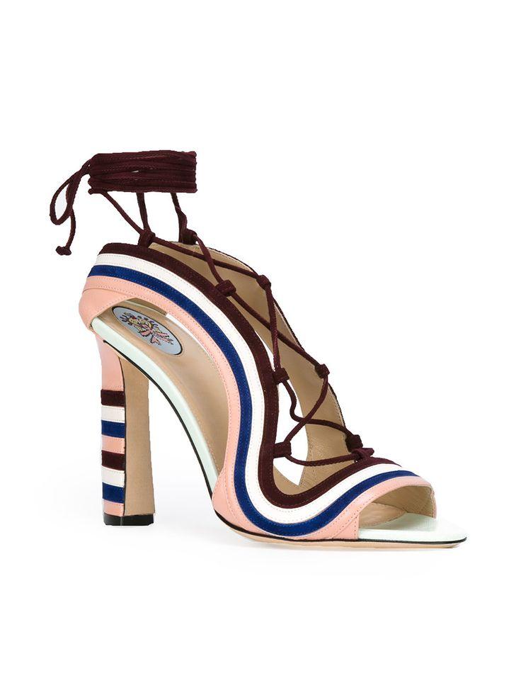 Paula Cademartori Crazy Stripes sandals