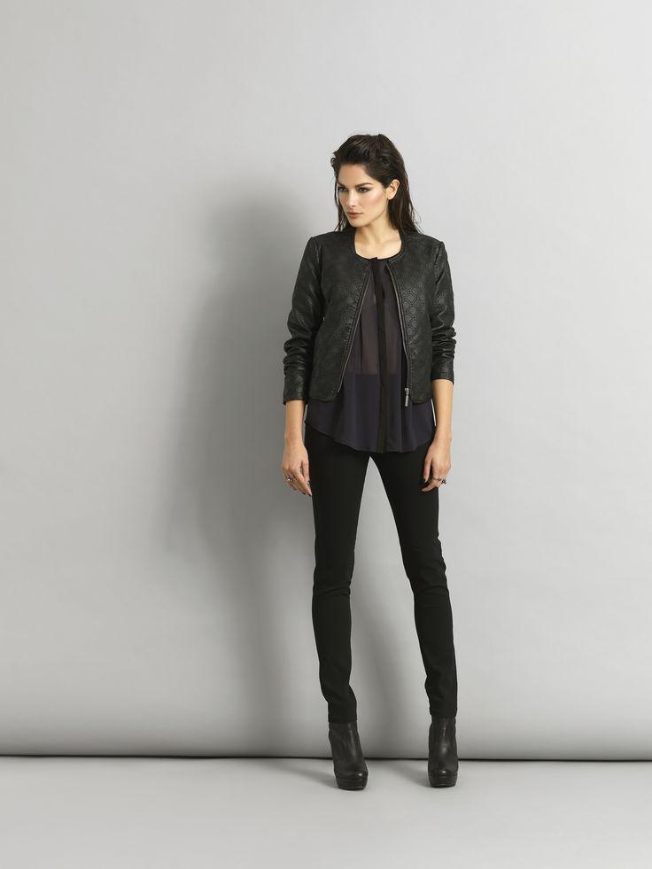 soyaconcept - leather jacket - shirt - pants