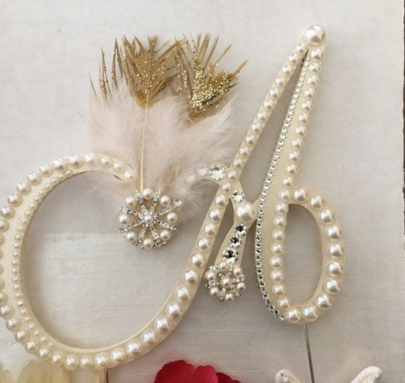 Art Deco Monogram Cake Topper : 97 best Gatsby and Art Deco Wedding Cake Toppers at Shell ...