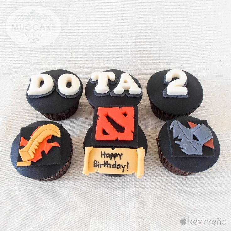 Dota 2 Themed Cupcakes  www.facebook.com/TheMugCakeFactory