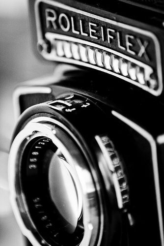 Black white camera close up ready to shoot pics of new outfit