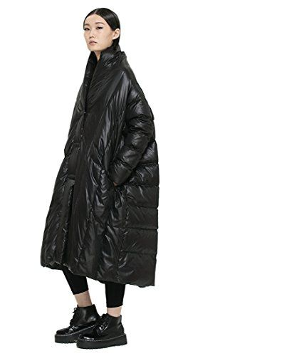 Katuo Black Down Coat Women's Maxi Down Coat Winter Long Coat Cloak-type Jacket KATUO http://www.amazon.com/dp/B00PN0U7D2/ref=cm_sw_r_pi_dp_Comrwb1ZD02VX