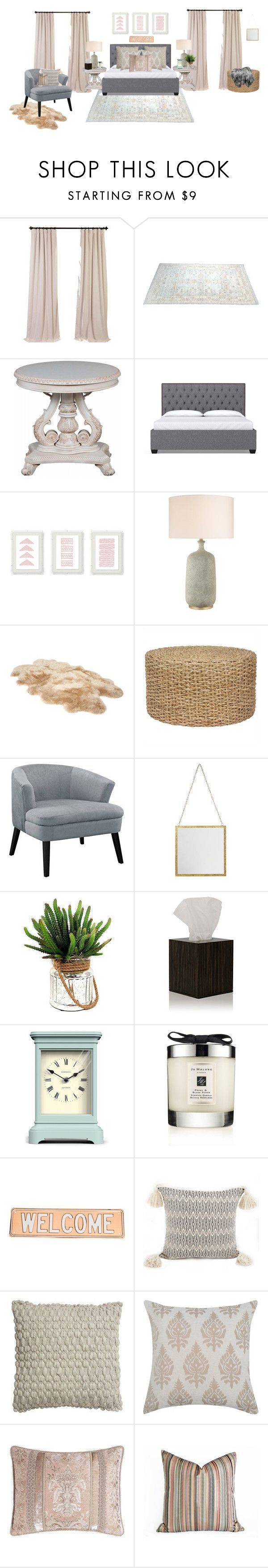 """""""Neutral Guest Bedroom"""" by jet1397 ❤ liked on Polyvore featuring interior, interiors, interior design, home, home decor, interior decorating, UGG, iWOODESIGN, Newgate and Jo Malone"""
