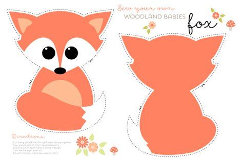 Sew your own baby fox  fabric - heleenvanbuul - Spoonflower