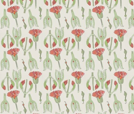 Marta's flower fabric by ex-m on Spoonflower - custom fabric