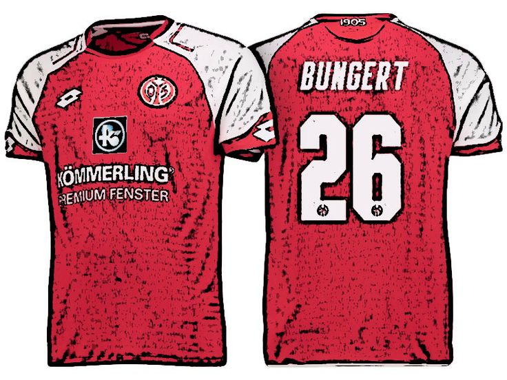FSV Mainz 05 Kit Jersey For Cheap niko bungert 17-18 Home Shirt