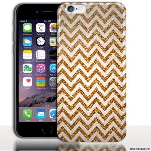 Coque iPhone 6 Apple | Zig Zag Gold | Dimension 4.7 pouces | Coque rigide | Housse silicone. #Gold #ZigZag #iPhone6