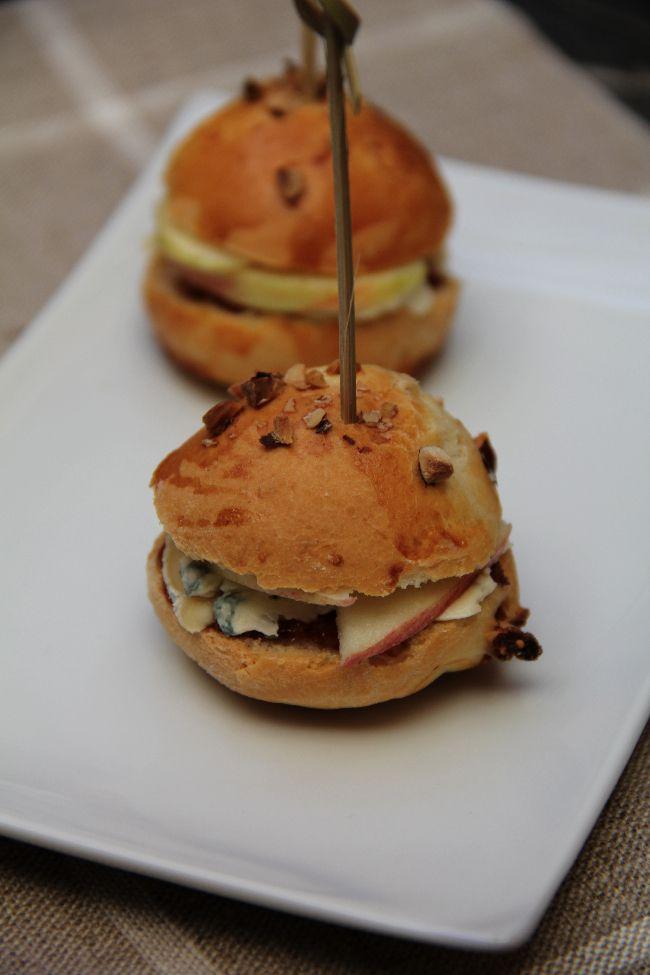 Mini burgers à la fourme d'ambert , chutney de figues pomme crue pour le SDB de Soissons | On dine chez Nanou