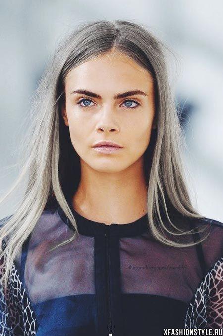 Серый цвет волос: загадочный и изящный. Фото и видео!