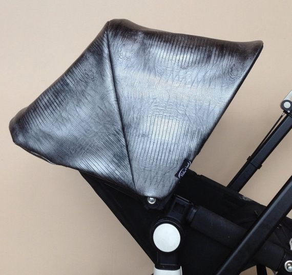 Replacement custom canopy or hood for bugaboo strollers. Cameleon, Cameleon3, frog, donkey. Faux leather