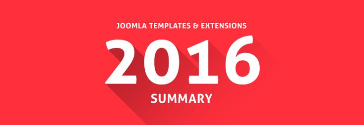 Check the Joomla templates 2016 summary -  all products we've released at our Joomla template store last year. #Joomla #template #store #summary #products #framework #responsive #extensions #WordPress