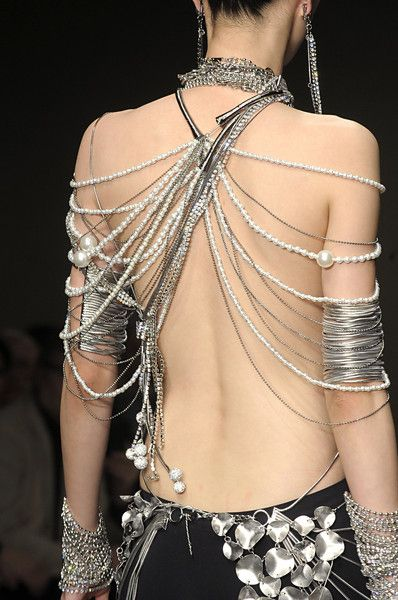 I would be afraid of breaking the strands or someone else breaking them. Besides, would I wear this in the winter? I'm sure not!