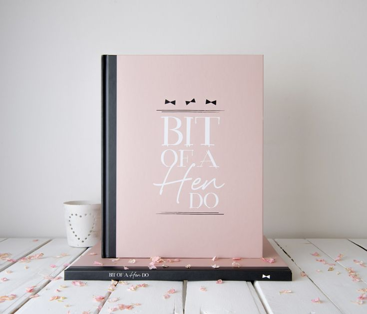 Hen Party Memory Keepsake Book. A hen party memory book to leave messages, play games and record every memory of the hen do.